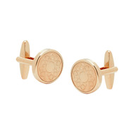 Rose Gold Cufflinks with Flora Motif