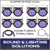 CHAUVET DJ SLIMPAR 56 W/8 FREE CABLES
