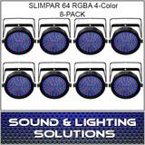Chauvet DJ Slim Par 64 RGBA 8 Pack