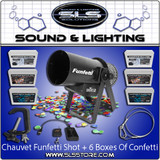 Chauvet DJ Funfetti Shot Confetti Launcher Single Package + 6 Boxes Confetti!