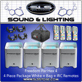 Chauvet Freedom Par Hex 4 White 4 Pack + Extras!