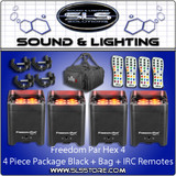 Chauvet Freedom Par Hex 4 Black 4 Pack + Extras!