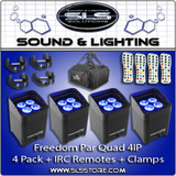 Chauvet Freedom Par Quad 4 IP Black 4 Pack + Extras!