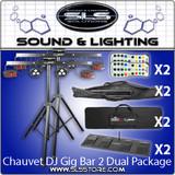 Chauvet DJ GigBAR 2 4-In-1 Complete Effect Light System 2 Piece Package