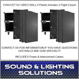 Chauvet DJ VIVID4X4 4.8MM VIDEO WALL 8 PANEL KIT w/ 2 Cases & Cables