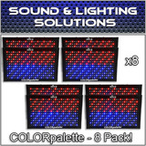(8) Chauvet DJ COLORpalette 288 LED RGB Panel Wash