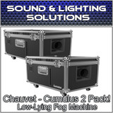 (2) Chauvet DJ Cumulus Professional DJ Club Party Low-Lying Fog Machine