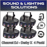 (4) Chauvet DJ Derby X Moonflower LED Effect Light Package