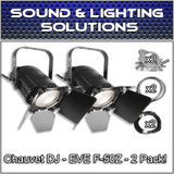 (2) Chauvet DJ EVE F-50Z Warm White LED Fresnel Spot Light Package