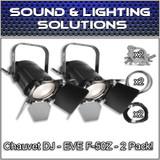 (2) Chauvet DJ EVE F-50Z Warm White LED Fresnel Spot Light Package