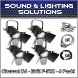(4) Chauvet DJ EVE F-50Z Warm White LED Fresnel Spot Light Package