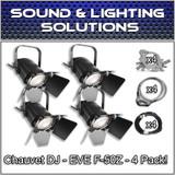 (4) Chauvet DJ EVE F-50Z Warm White LED Fresnel Spot Light Package
