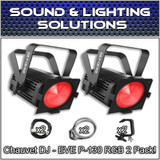 (2) Chauvet DJ EVE P-130 RGB D-Fi DMX Stage Light Wash Light Par Can Package