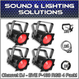 (4) Chauvet DJ EVE P-130 RGB D-Fi DMX Stage Light Wash Light Par Can Package