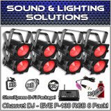 (8) Chauvet DJ EVE P-130 RGB D-Fi DMX Stage Light Wash Lights + ShowExpress Package