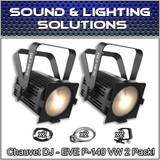 (2) Chauvet DJ EVE P-140 VW D-Fi USB DMX Stage Wash Light Package