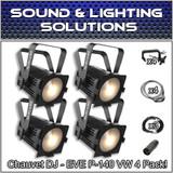 (4) Chauvet DJ EVE P-140 VW D-Fi USB DMX Stage Wash Light Package