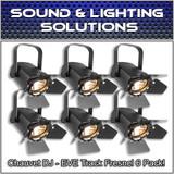 (6) Chauvet DJ EVE TF-20 LED Fresnel Accent Par Can Light w/Dimmers