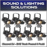 (8) Chauvet DJ EVE TF-20 LED Fresnel Accent Par Can Light w/Dimmers