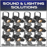 (12) Chauvet DJ EVE TF-20 LED Fresnel Accent Par Can Light w/Dimmers