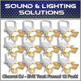 (12) Chauvet DJ EVE TF-20 LED Par Wash Stage Light Fresnel Fixture - White