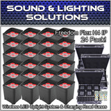 (24) Chauvet DJ Freedom Flex H4 IP  Wireless LED Uplight System +Charging Cases