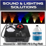 Chauvet DJ GEYSER P5 Fog Machine Fogger w/LED Effects, Remote & Fluid Pkg
