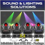 (4) Chauvet DJ Intimidator Spot 375Z IRC 150w LED Moving Head w/ Zoom Package