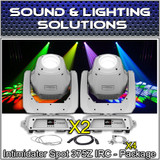 (2) Chauvet DJ Intimidator Spot 375Z IRC 150 W LED Moving Head/Yoke (White)