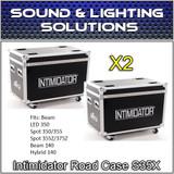 (2)  Chauvet DJ Intimidator Road Case S35X
