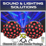 (2) Chauvet DJ Line Dancer Compact DMX LED DJ Club Party Effect Lighting Package (LIMITED STOCK)