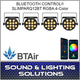 Chauvet DJ SlimPAR Q12 BT Wash Light (RGBA) with built-in Bluetooth BTAir 4 Pack