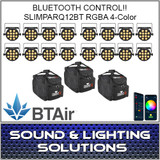 Chauvet DJ SlimPAR Q12 BT Wash Light (RGBA) with built-in Bluetooth/BTAir 12 Pack