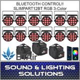 Chauvet DJ SlimPAR T12 BT (RGB) Wash Light with built-in Bluetooth 12 Pack
