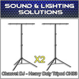 Chauvet DJ CH 03 Heavy-Duty T-Bar Tripod Lighting Stand (2 Pack)