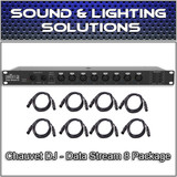 Chauvet DJ Data Stream 8 XLR DMX 3-Pin Rack Mountable Splitter w/Cables