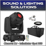 Chauvet DJ Intimidator Spot 360 Black 100W Dual Prism Moving Head w/Bag & Extras