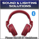 Pioneer DJ HDJ-X5BT Foldable Wireless Bluetooth DJ Over Ear Headphones (Red)