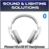 Pioneer DJ HDJ-X5BT Foldable Wireless Bluetooth DJ Over Ear Headphones (White)