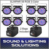 CHAUVET DJ SLIMPAR 56 W/8 Lights + 2 Bags
