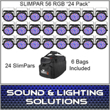 CHAUVET DJ SLIMPAR 56 24 Pack + 6 Bags