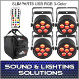 Chauvet DJ SlimPAR T6 USB 4 Pack