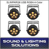 Chauvet DJ SlimPAR Q6 USB 4 PACK