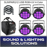 Chauvet DJ SlimPARQUV12 USB Four Pack Mobile
