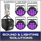 Chauvet DJ SlimPARQUV12 USB Four Pack Mobile IRC Control