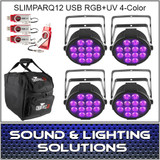 Chauvet DJ SlimPARQUV12 USB Four Pack Dfi