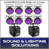 Chauvet DJ SlimPARQUV12 USB Eight Pack Mobile