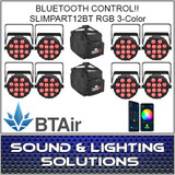 Chauvet DJ SlimPAR T12 BT (RGB) Wash Light with built-in Bluetooth (BTAir) 8 Pack