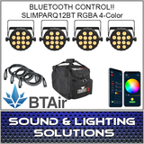 Chauvet DJ SlimPAR Q12 BT Wash Light (RGBA) with built-in Bluetooth BTAir 4 Pack Mobile