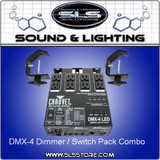 DMX-4  (Dimmer/Relay Pack for LED and Incandescent Fixtures)